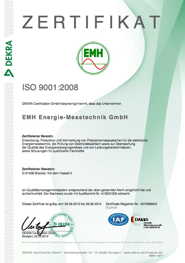 EMH-ISO-Zertifikat-9001